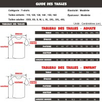 Guide tailles T-shirt Among Us