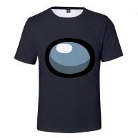T-shirt Among Us Gris Noir
