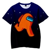 T-shirt Among Us Équipier Orange