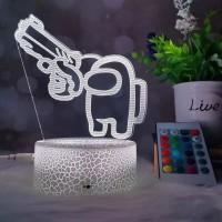 Lampe Among Us 3D Imposteur pistolet