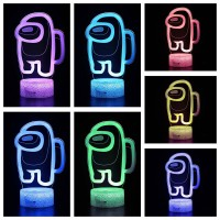 Lampe Among Us 3D couleurs