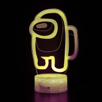 Lampe Among Us 3D jaune